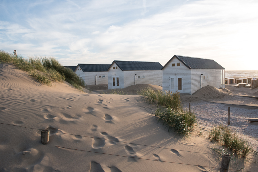 Strandhäuser in Holland