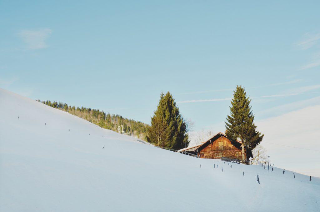 Berg Hochgrat im Schnee