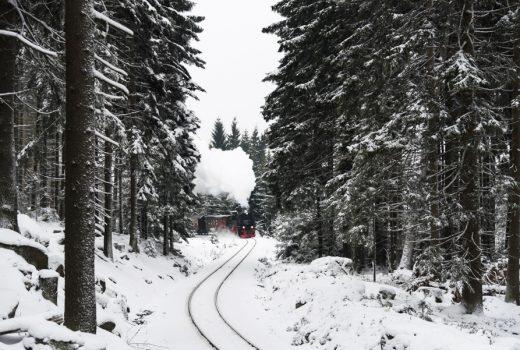 Brockenbahn Harz im Winter