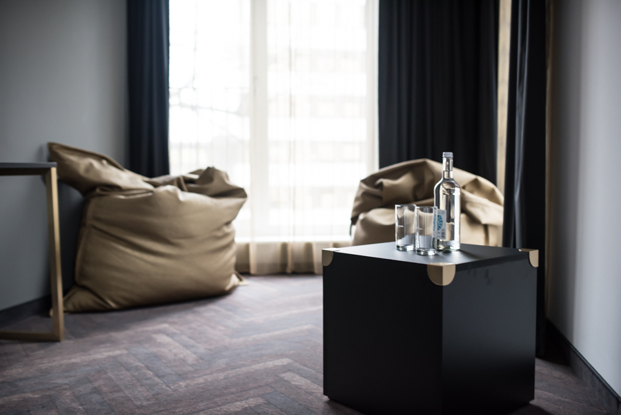 niu-Hotel Zimmer Sitzsack