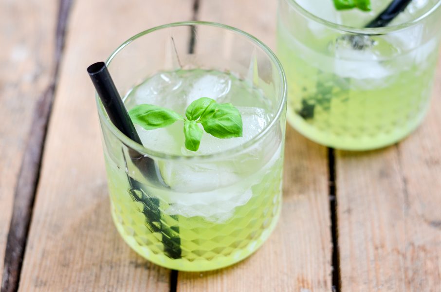 Gin Basil Smash Rezept