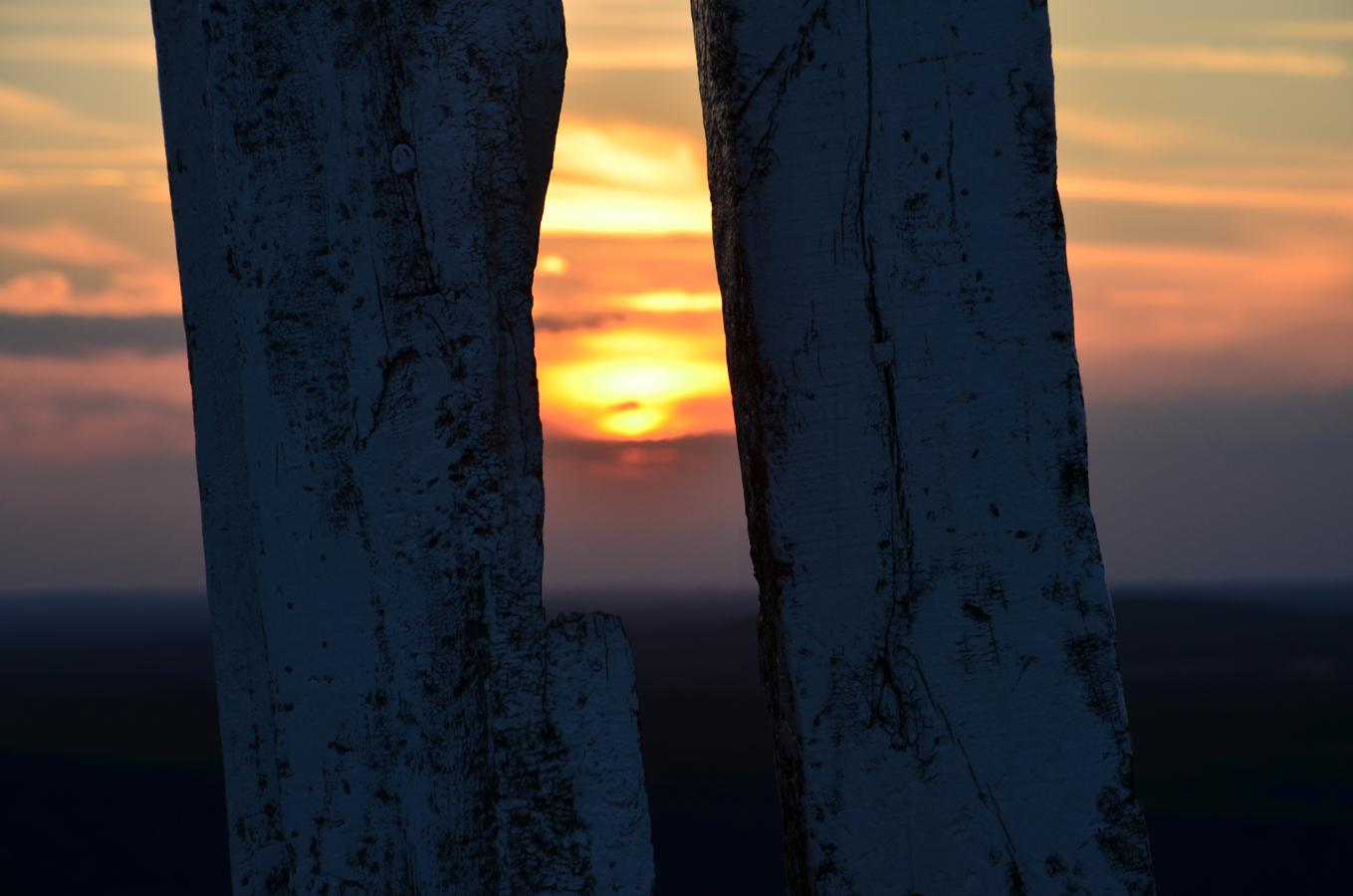 Halde Haniel Sonnenuntergang Totem