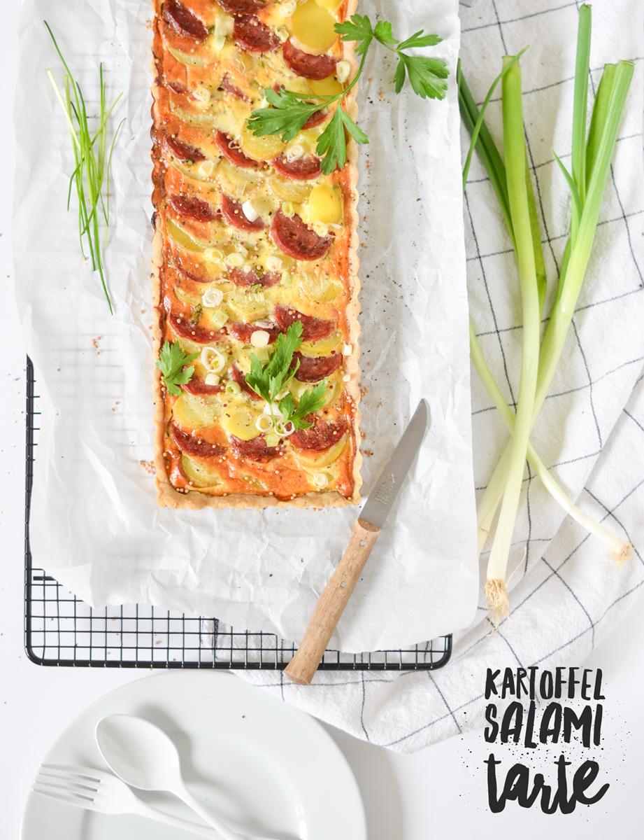 Kartoffel-Salami-Tarte