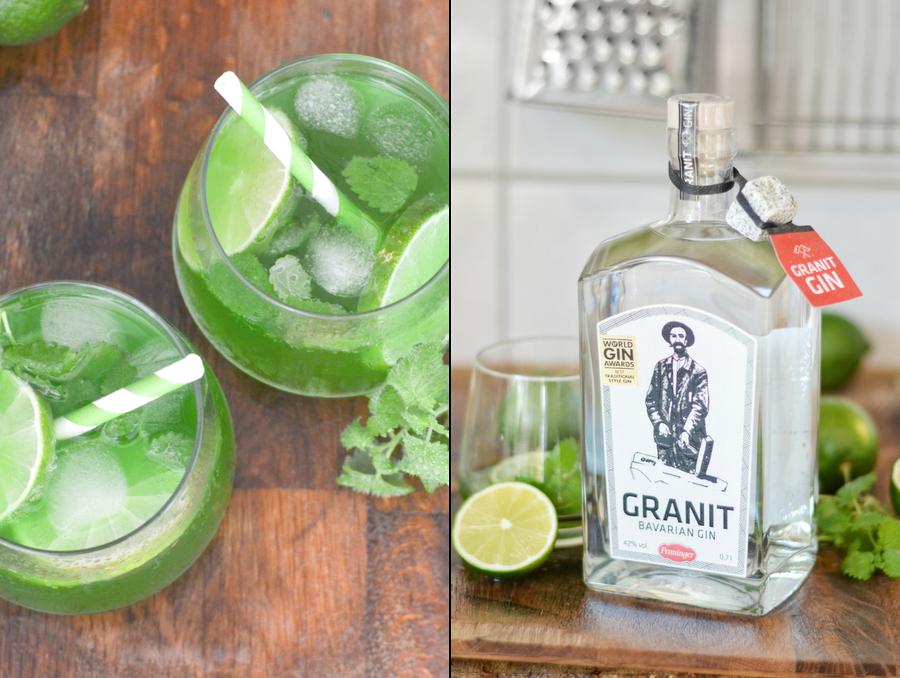 Granit Gin mit Waldmeister und Sekt