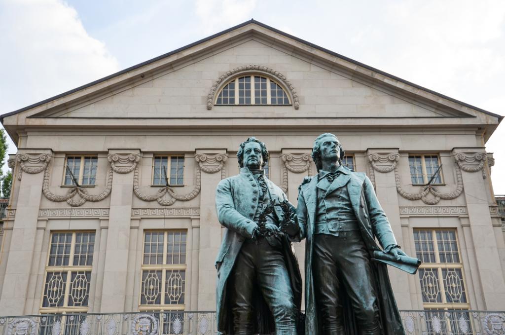 Weimar in Thüringen Wochenendtripp Goethe udn Schiller