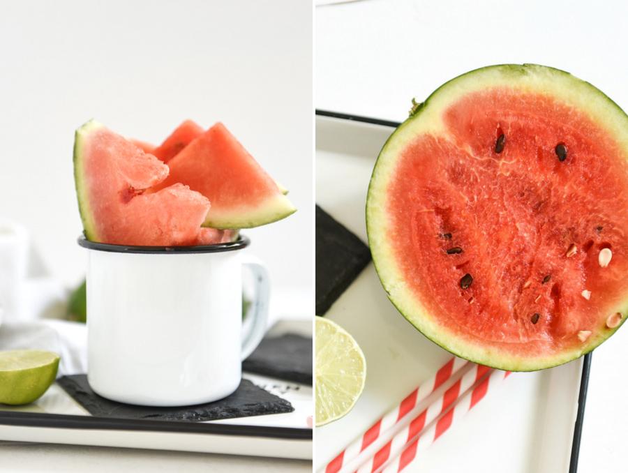 Gin-Cocktail mit Wassermelone und Minze