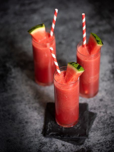 Wassermelonen Drink Getränk mit Gin für den Sommer