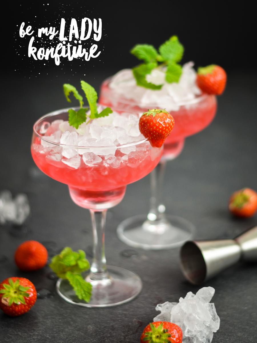 Rezept Gin mit Erdbeere aus Marmelade
