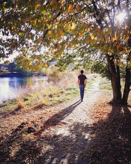 Bochum im Herbst Kemnader See an der Ruhr