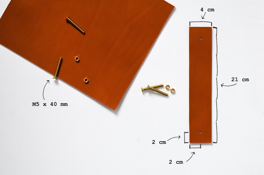 Ikea-Hack Brimnes-Bett mit Ledergriffen für Schubladen