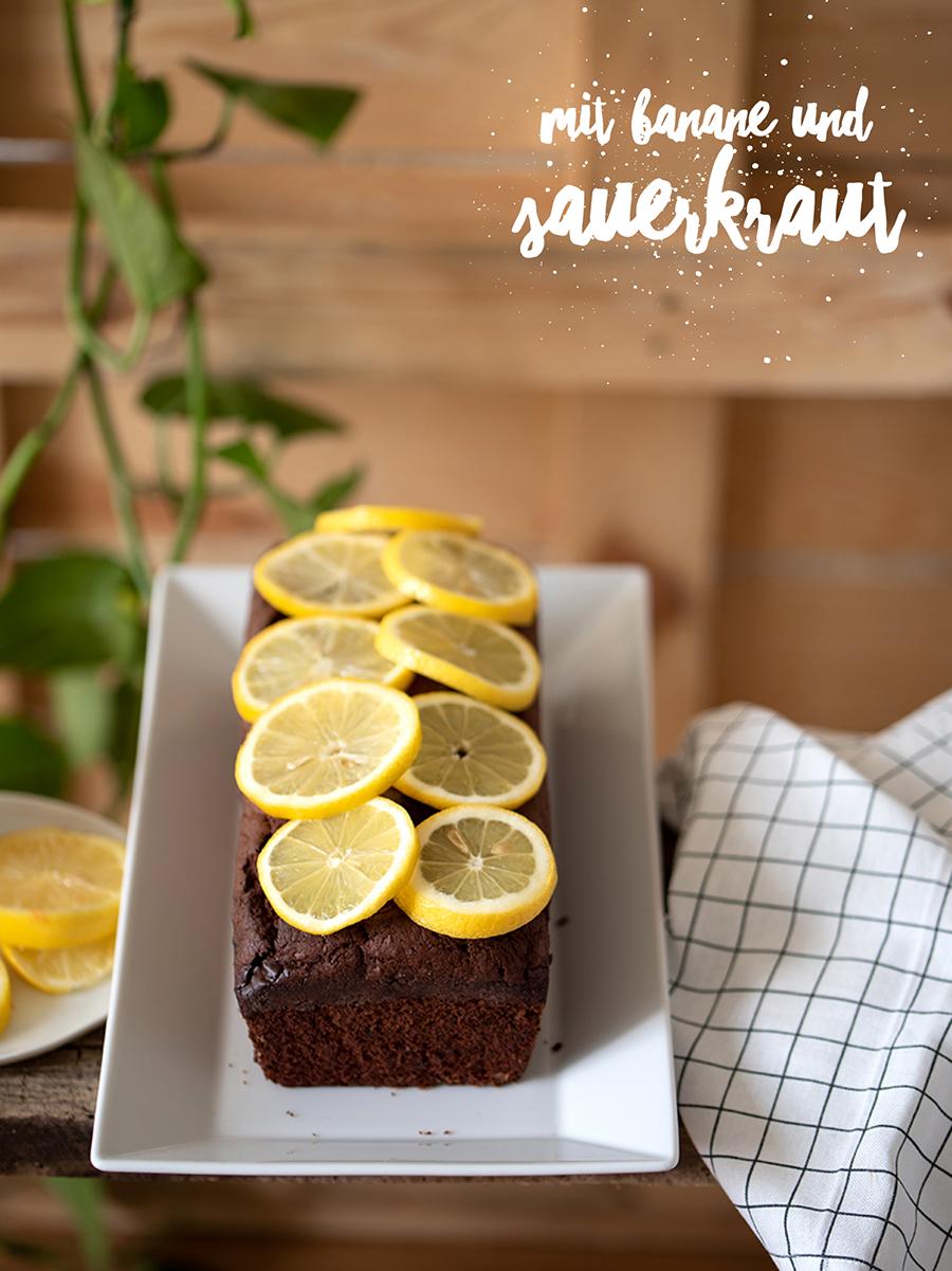 Rezept veganer Schokokuchen mit Sauerkraut