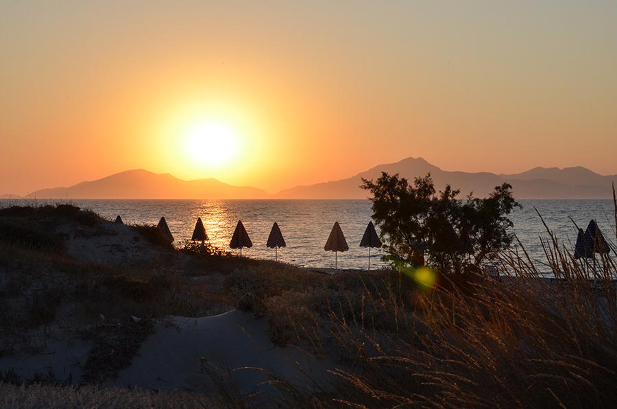 Sonnenuntergang Kos Griechenland im Sommer