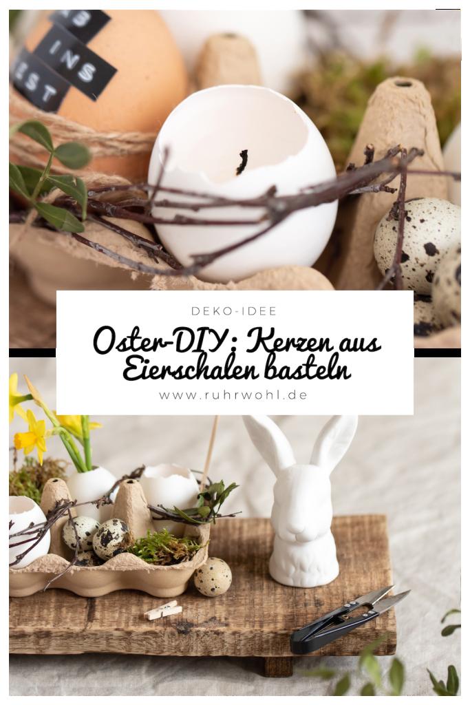 DIY Kerzen in Eierschalen basteln zu #ostern #diy #eier #happyeaster #dekoration #osterdeko