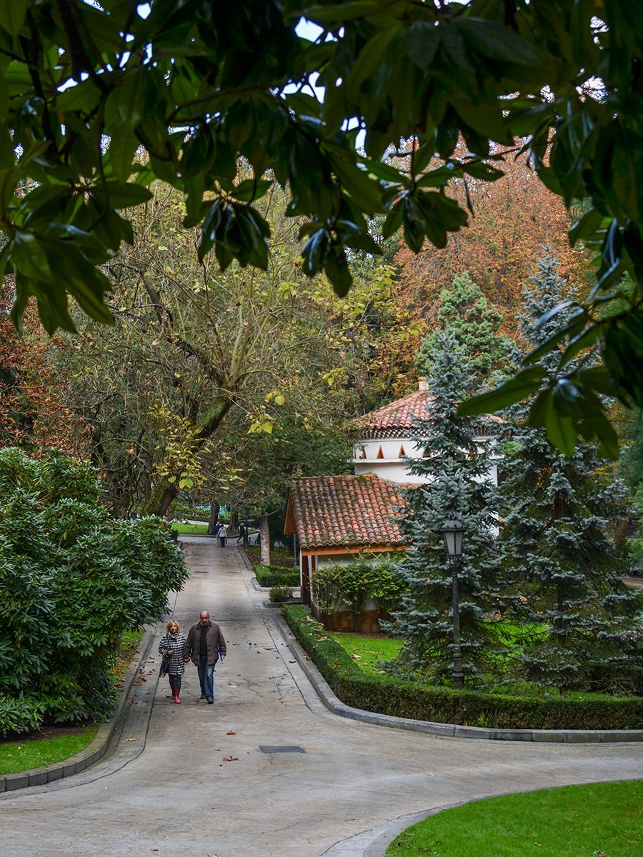 Park in Oviedo, Spanien