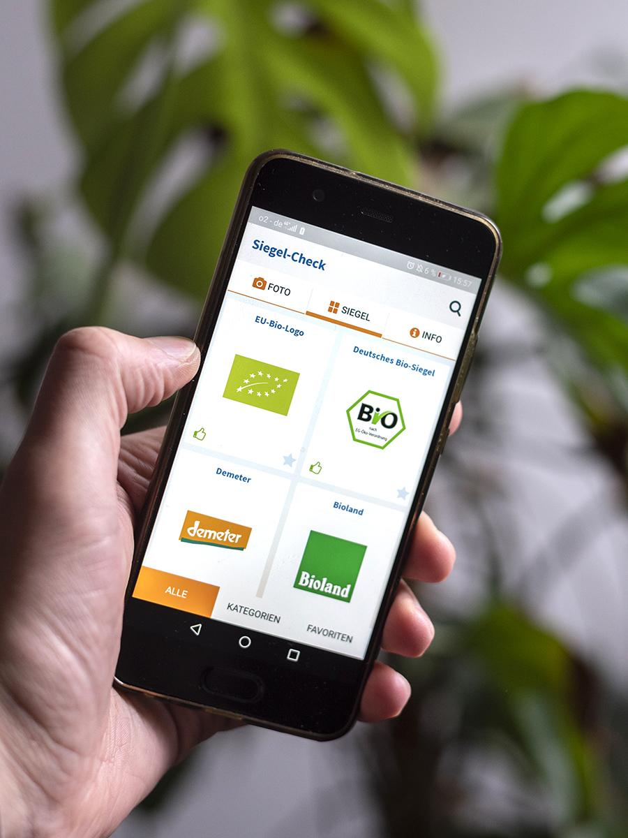 Apps für Nachhaltigkeit Nabu Siegel Check